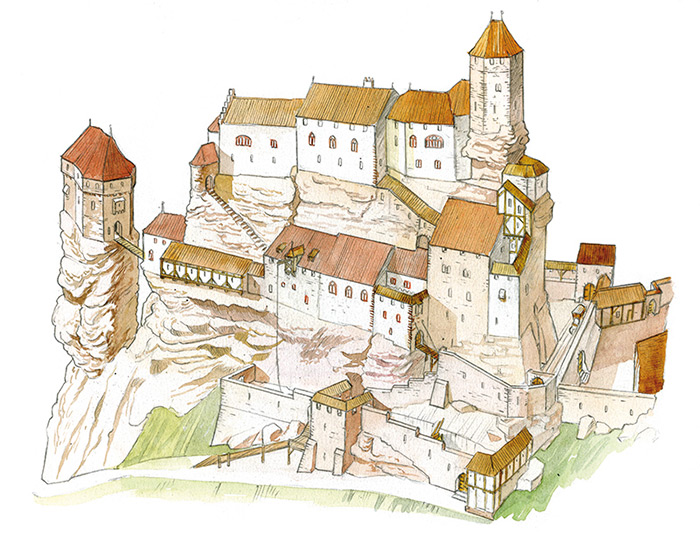 Le ch teau de froensbourg ch teaux forts alsace - Decoration moyen age ...