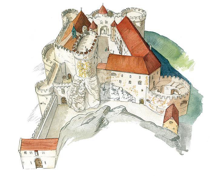 Reconstitution du château de Morimont par C-Carmona
