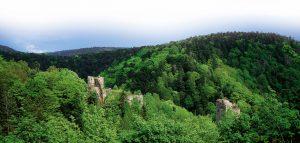 Vue du château du Nideck - Crédit : ADT FZ Vardon