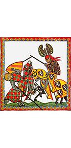 illustration Destriers du codex manese du Moyen Age