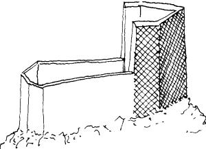 Esquisse d'un mur bouclier