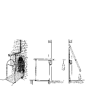 Esquisse d'un pont levis à balancier
