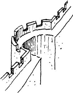 Esquisse d'une Tour ouverte à gorge