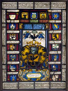 Vitrail aux armes des échevins corporation Lanterne Musées de Strasbourg