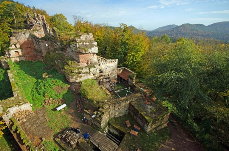 vue aérienne château du Schoeneck