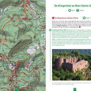 Page intérieure topo guides chemin des chateaux forts d'Alsace