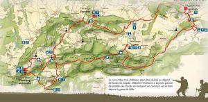 chemin des Trois châteaux du Jura Alsacien